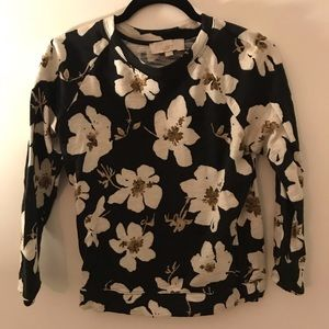 LOFT Sweaters - Black floral sweater